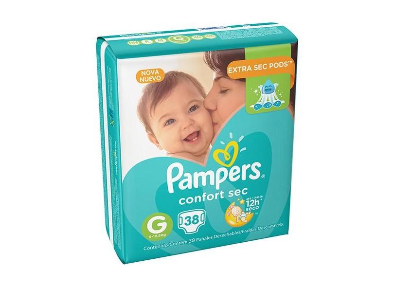 Fralda Pampers Confort Sec G Mega 38 Und 9 - 12,5kg