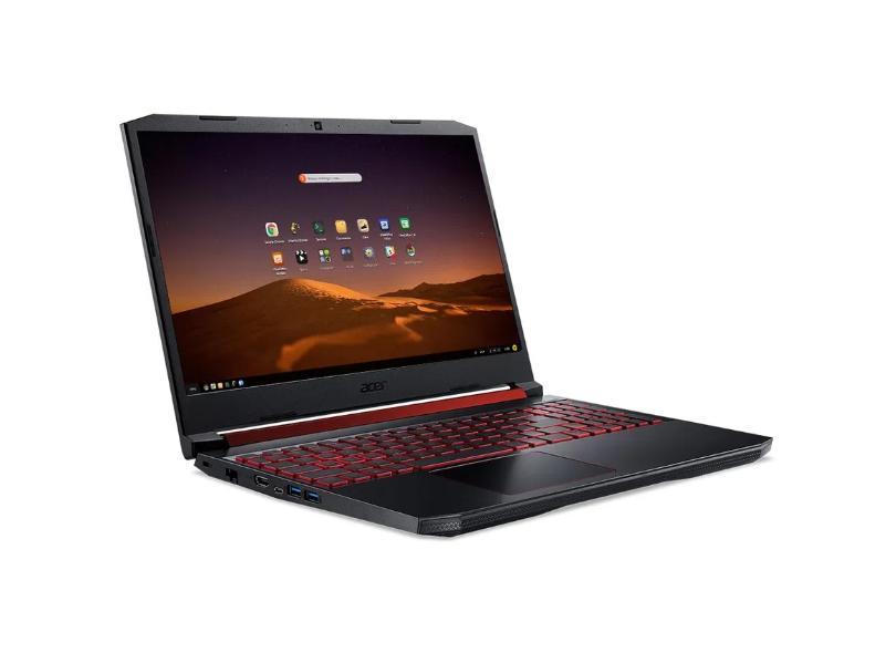 """Notebook Gamer Acer Aspire Nitro 5 Intel Core i5 9300H 9ª Geração 8.0 GB de RAM 1024 GB Híbrido 128.0 GB 15.6 """" Full GeForce GTX 1650 Endless OS AN515-54-58CL"""