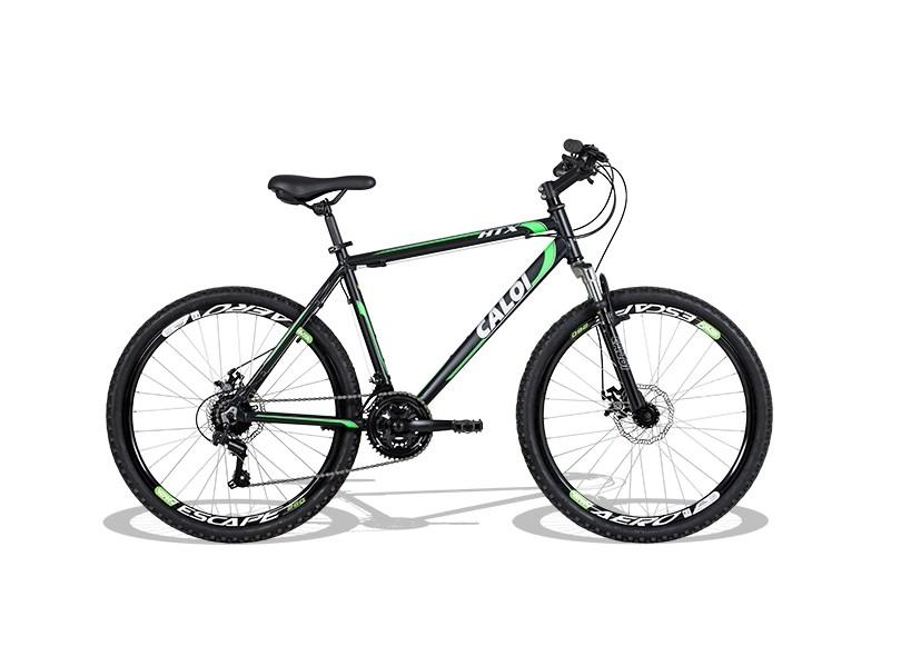 Bicicleta Mountain Bike Caloi 21 Marchas Aro 26 Suspensão Dianteira a Disco HTX Disc