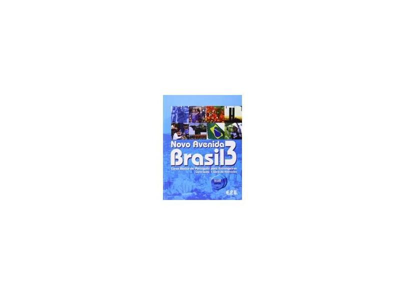 Novo Avenida Brasil 3 - Livro Texto + Exercícios + Cd - Epu - 9788512546100