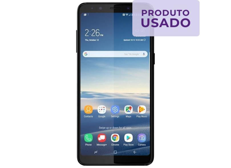 Smartphone Samsung Galaxy A8 Usado 64GB 16.0 + 8.0 MP 2 Chips Android 7.1 (Nougat) 4G Wi-Fi