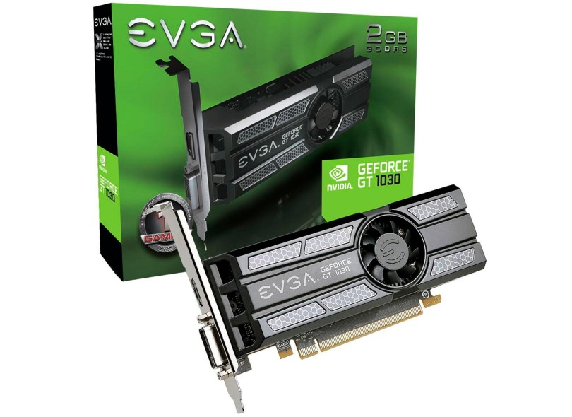 Placa de Video NVIDIA GeForce GT 1030 2 GB GDDR5 64 Bits EVGA 02G-P4-6333-KR