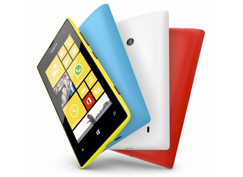 Smartphone Nokia Lumia 520 Câmera 5,0 MP Desbloqueado 8 GB Windows Phone 8 3G Wi-Fi