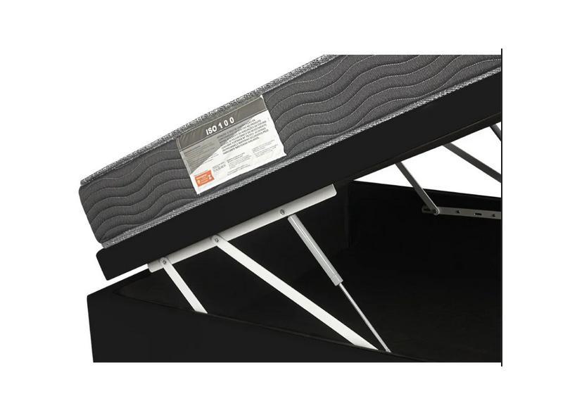 Cama Box Baú Viúva com Colchão Ortobom - ISO 100 128cm Lucas Colchões