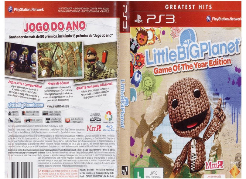 Jogo Little Big Planet Goty Sony PS3