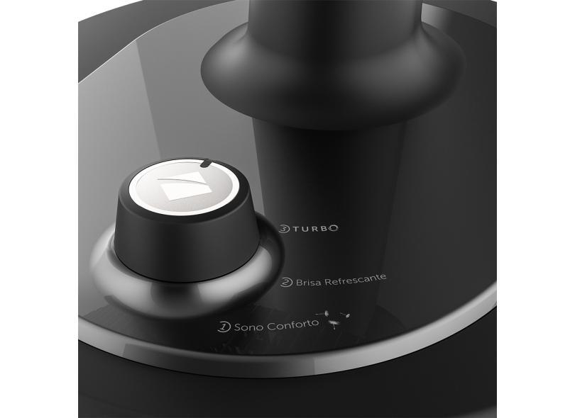 Ventilador de Mesa/Parede Cadence Turbo Conforto Black VTR470 42 cm 6 Pás 3 Velocidades