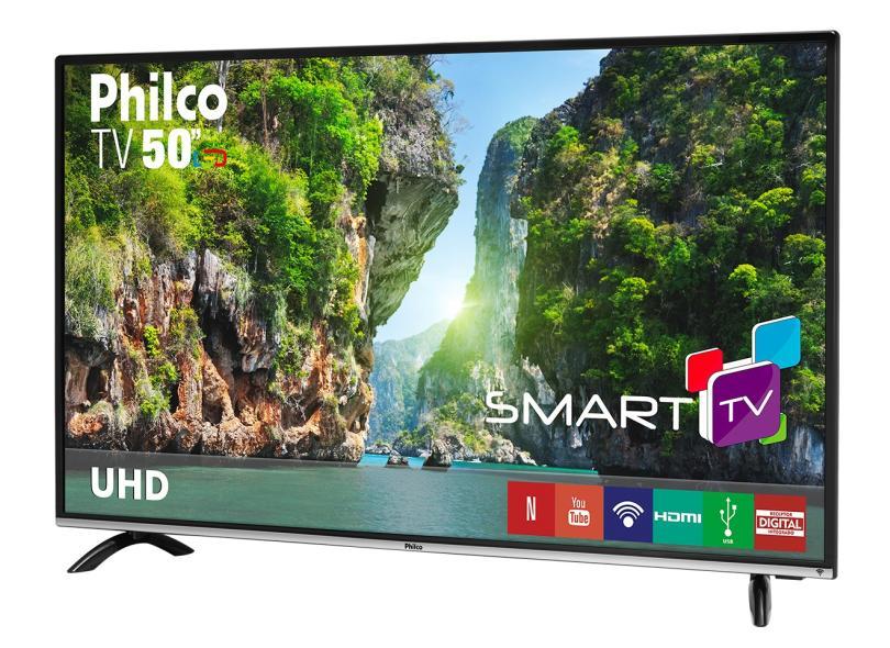 "Smart TV TV LED 50"" Philco 4K Netflix PTV50F60SN 3 HDMI"