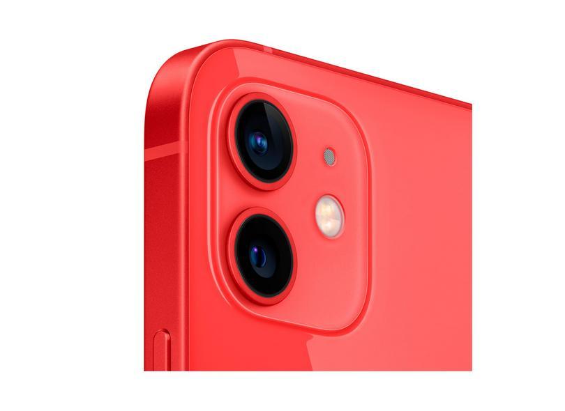 Smartphone Apple iPhone 12 Vermelho 256GB Câmera Dupla iOS 14