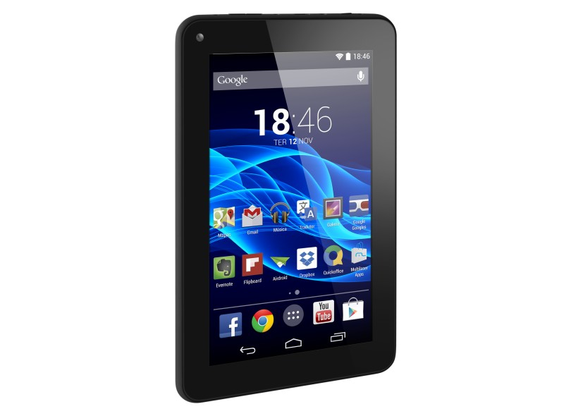 """Tablet Multilaser M7s 8.0 GB LCD 7 """" Android 4.4 (Kit Kat) NB184"""