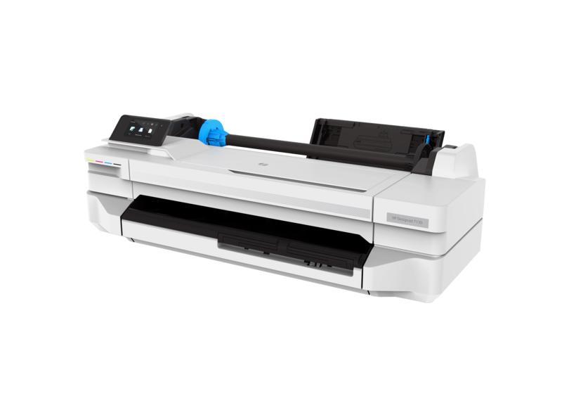 Plotter HP Designjet T130 24 polegadas Jato de Tinta Colorida Sem Fio