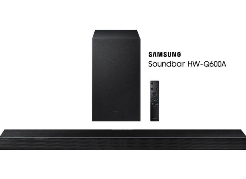 Home Theater Soundbar Samsung 360 W 3.1 Canais 2 HDMI HW-Q600A