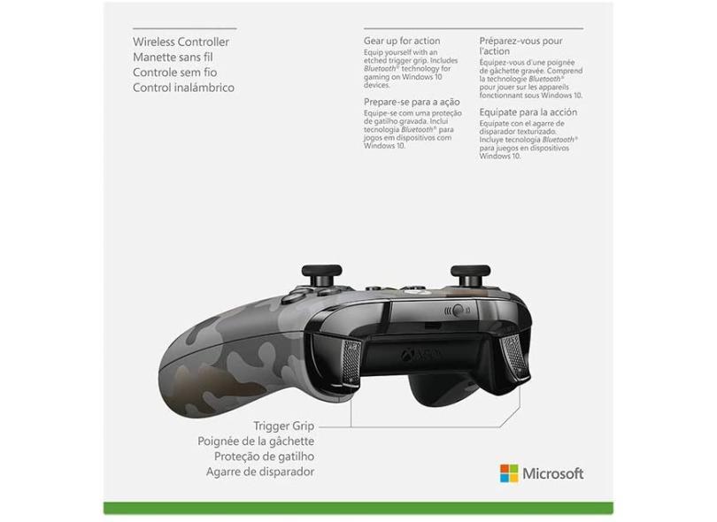 Controle Xbox One Xbox Series X PC sem Fio Night Ops Camo - Microsoft