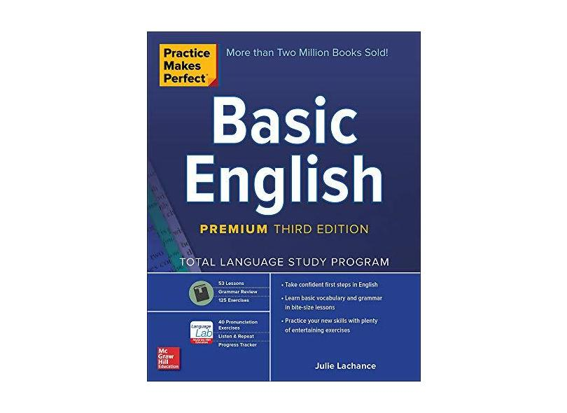 Practice Makes Perfect Basic English, 3rd Edition - Lachance,julie - 9781260143720