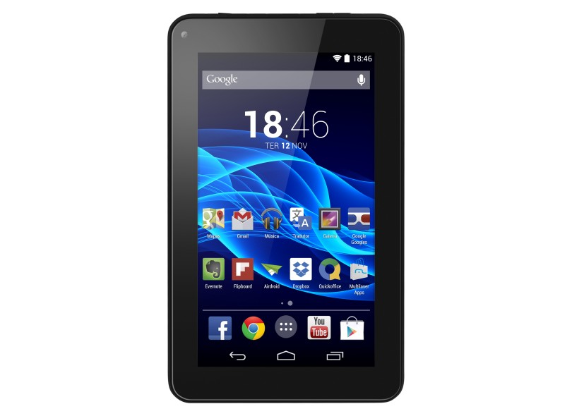 "Tablet Multilaser Supra 8 GB LCD 7"" Android 4.4 (Kit Kat) NB200"