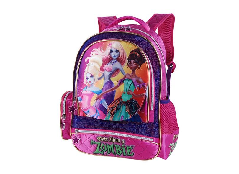 Mochila Escolar Luxcel Princesas Zombie Pink IS30933PZ P