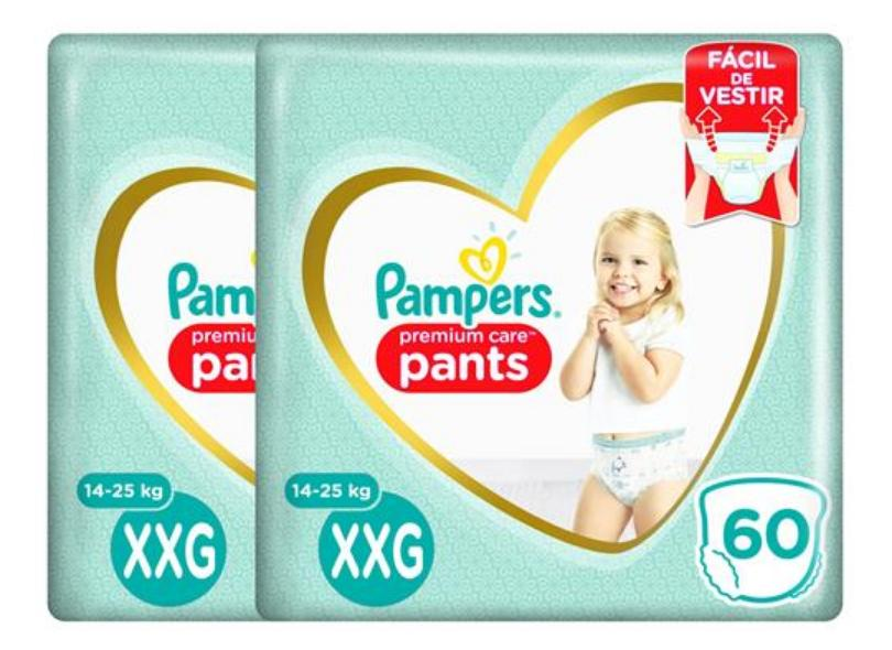 Fralda de Vestir Pampers Pants Premium Care Top XXG 60 Und 14 - 25kg