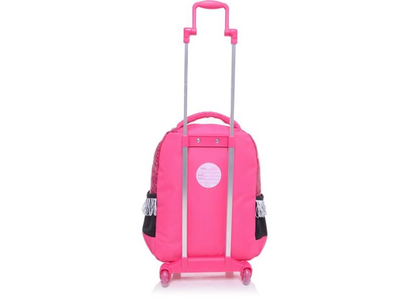 Mochila com Rodinhas Escolar Sestini Barbie Rock N' Royals 64342 G