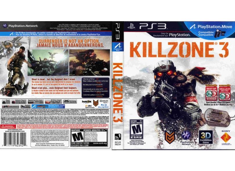 Jogo Killzone 3 PlayStation 3 Sony