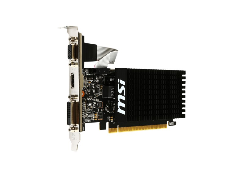 Placa de Video NVIDIA GeForce GT 710 2 GB DDR3 64 Bits MSI GT 710 2GD3H LP