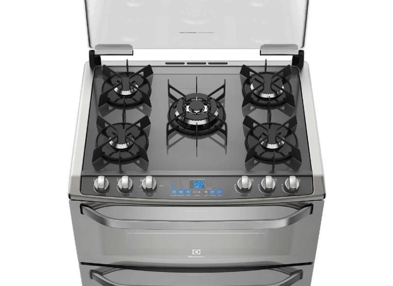 Fogão de Piso Electrolux 5 Bocas Acendimento Superautomático com Forno Duplo Grill 76DXV
