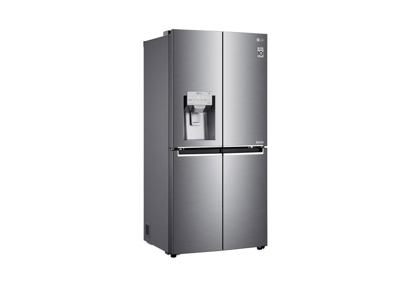 Geladeira LG LG ThinQ Frost Free French Door Inverse 428 Litros Inox GC-L228FTLK