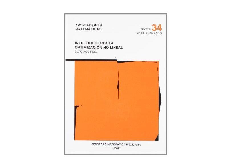 Introducción a la Optimización no Lineal - Elvio Accinelli - 9786077815020