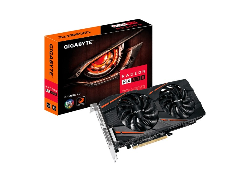 Placa de Video ATI Radeon RX 570 4 GB GDDR5 256 Bits Gigabyte GV-RX570GAMING-4GD