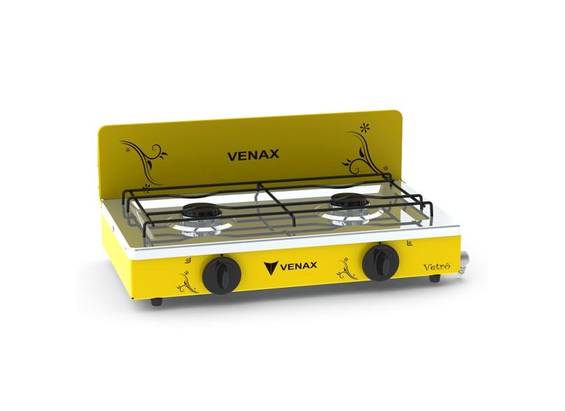 Fogão de Mesa Venax 2 Bocas Flamalar Vetrô