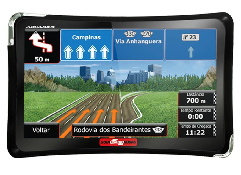 """GPS Automotivo Aquarius Guia Quatro Rodas MTC4374 4.3 """""""