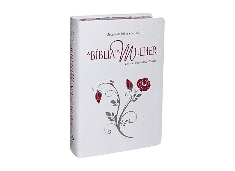 A Bíblia da Mulher Índice - Branca - Com Bordas Floridas - Grande - Sociedade Bíblica Do Brasil - 7898521813796