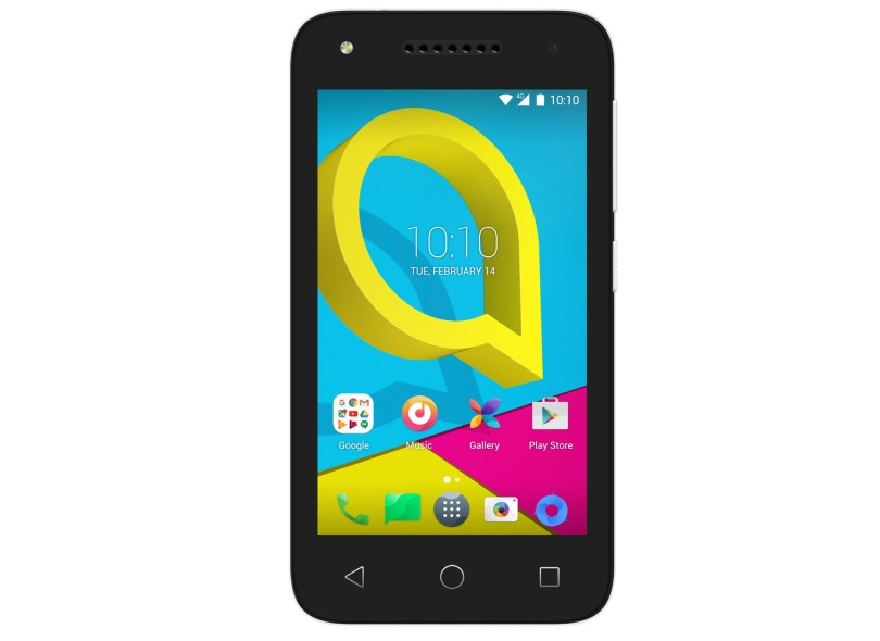 Smartphone Alcatel One Touch U3 8GB 4055J 2 Chips Android 6.0 (Marshmallow) 3G 4G Wi-Fi