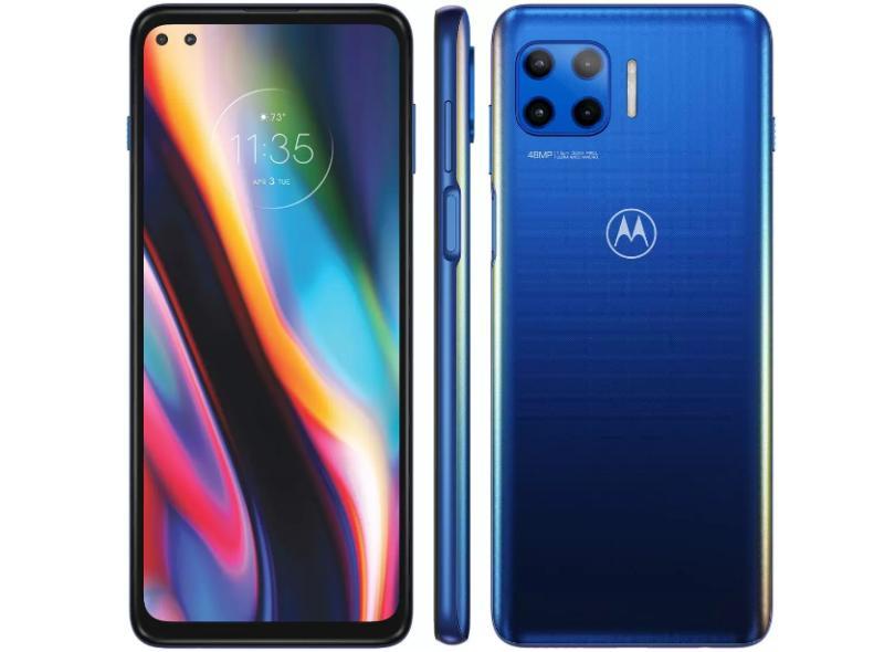 Smartphone Motorola Moto G 5G Plus XT2075-3 128GB Câmera Dupla Câmera Quádrupla Qualcomm Snapdragon 765 2 Chips Android 10