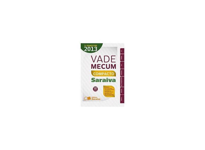 Vade Mecum Compacto - Editora Saraiva - 9788502204584