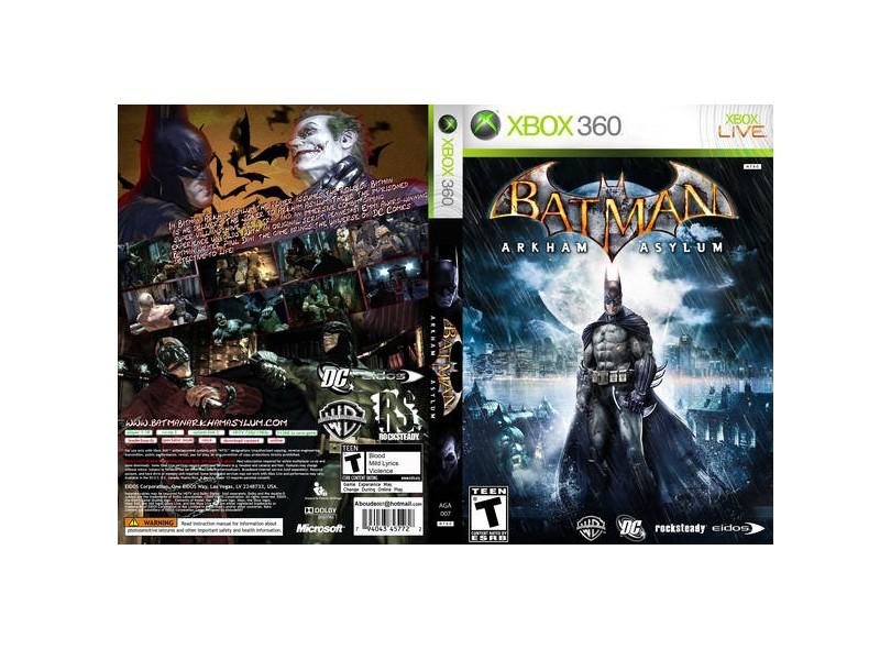Jogo Batman Arkham Asylum Warner Bros Xbox 360