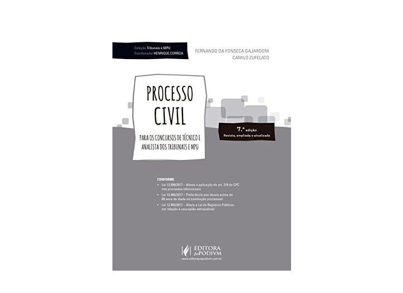 """Processo Civil - """"zufelato, Camilo"""" - 9788544220177"""