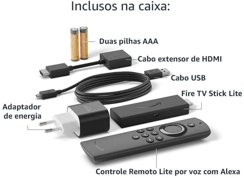 Fire TV Stick Amazon Lite 8 GB Full HD Fire OS HDMI Alexa Amazon