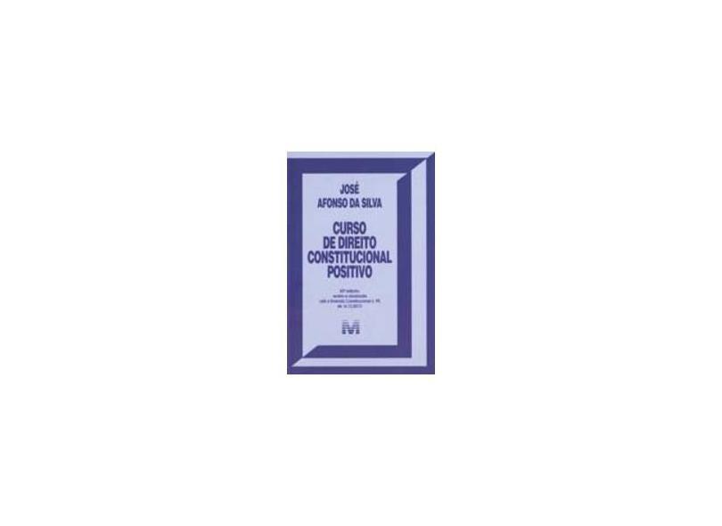 Curso de Direito Constitucional Positivo - Jose Afonso Da Silva - 9788539204328