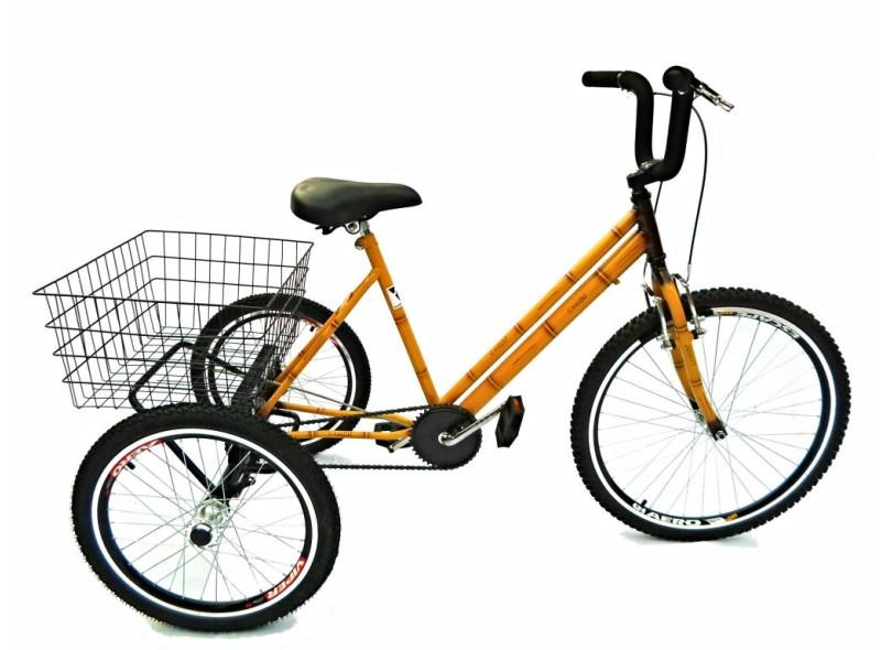 Bicicleta Triciclo Valdo Bike 21 Marchas Aro 26 Bambu 26