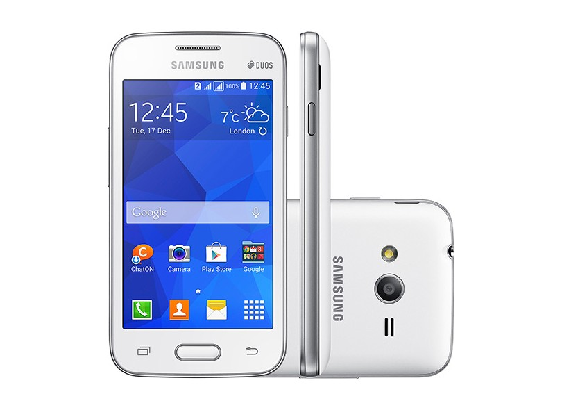 Smartphone Samsung Galaxy Ace 4 Lite Duos G313M 2 Chips 4GB Android 4.4 (Kit Kat) 3G Wi-Fi