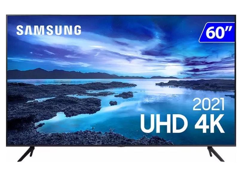 "Smart TV TV LED 60 "" Samsung Crystal 4K HDR UN60AU7700GXZD 3 HDMI"