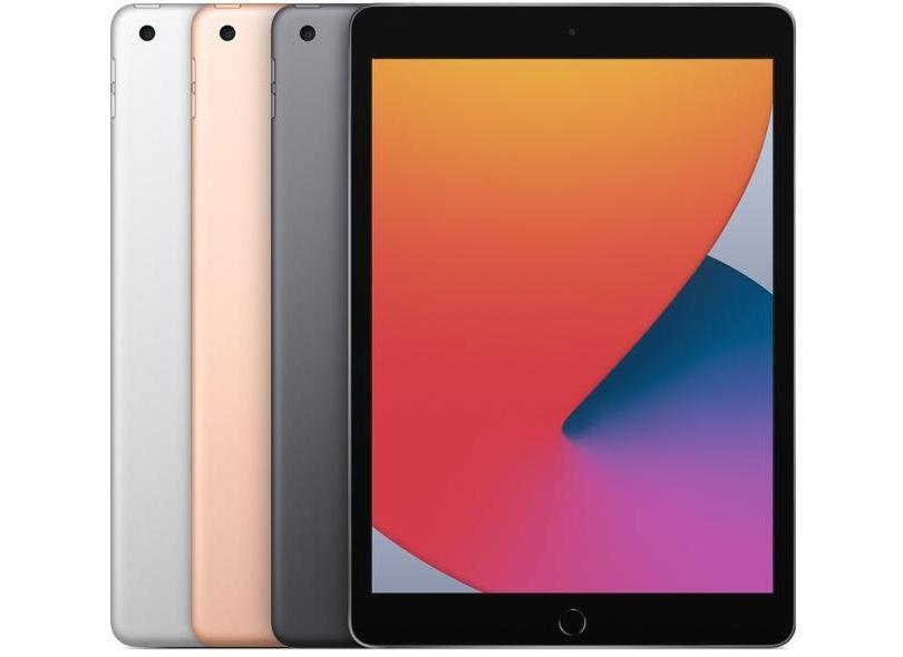 """Tablet Apple iPad 8ª Geração Apple A12 Bionic 128.0 GB Retina 10.2 """" iPadOS 14 8.0 MP"""