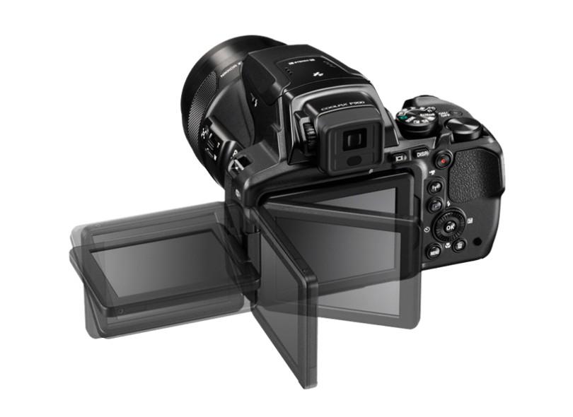 Câmera Digital Semiprofissional Nikon Coolpix 16 MP Full HD P900