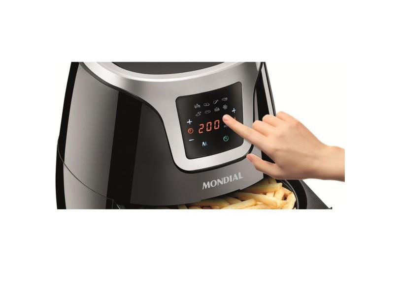 Fritadeira Elétrica Sem óleo Mondial Family Digital Touch AF-19 3.2 l