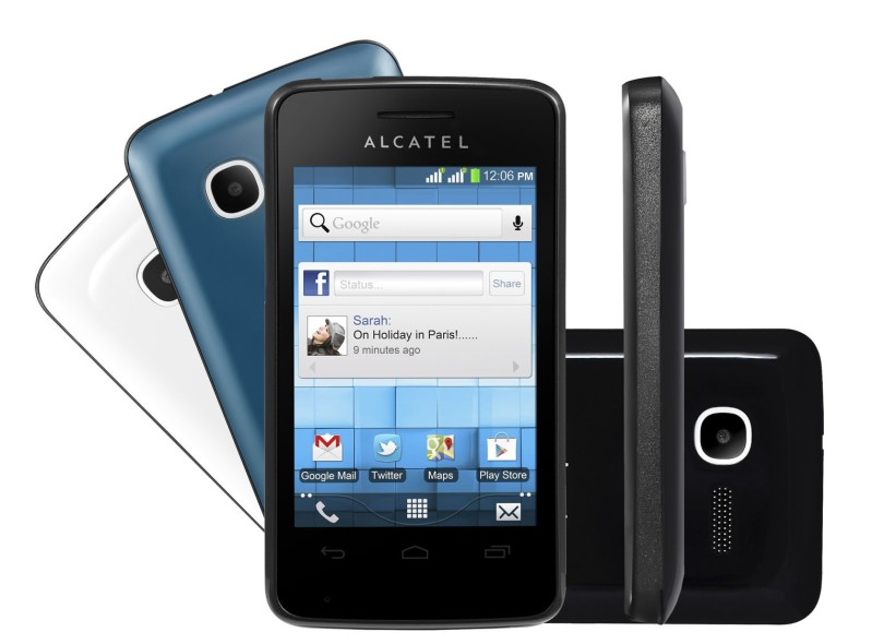 Smartphone Alcatel One Touch Pixi 4007D 2 Chips 5 Android 2.3 (Gingerbread) Wi-Fi 3G