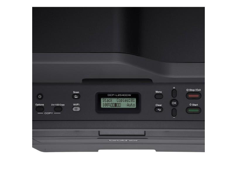 Multifuncional Brother DCP-L2540DW Laser Preto e Branco Sem Fio