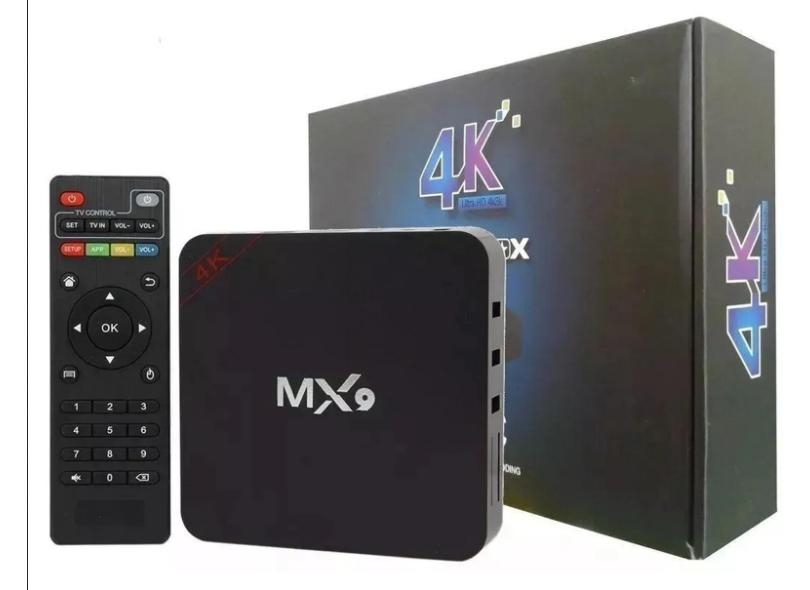 Smart TV Box MX9 16GB 4K Android TV USB HDMI