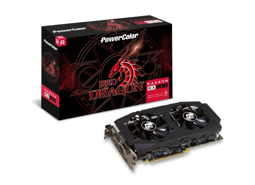 Placa de Video ATI Radeon RX 580 8 GB GDDR5 256 Bits PowerColor AXRX 580 8GBD5-3DHDV2/OC