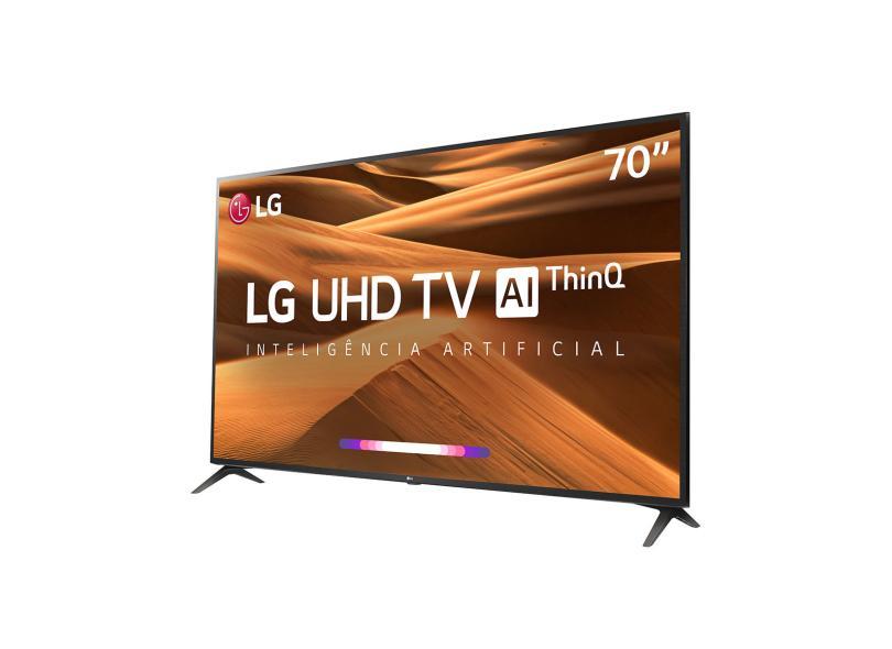 """Smart TV TV LED 70 """" LG ThinQ AI 4K Netflix 70UM7370PSA 3 HDMI"""