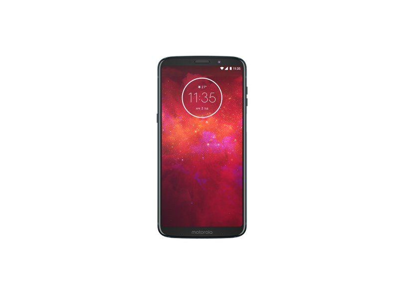 Smartphone Motorola Moto Z Z3 Play Stereo Speaker Edition 64GB 12 MP 2 Chips Android 8.1 (Oreo) 3G 4G Wi-Fi