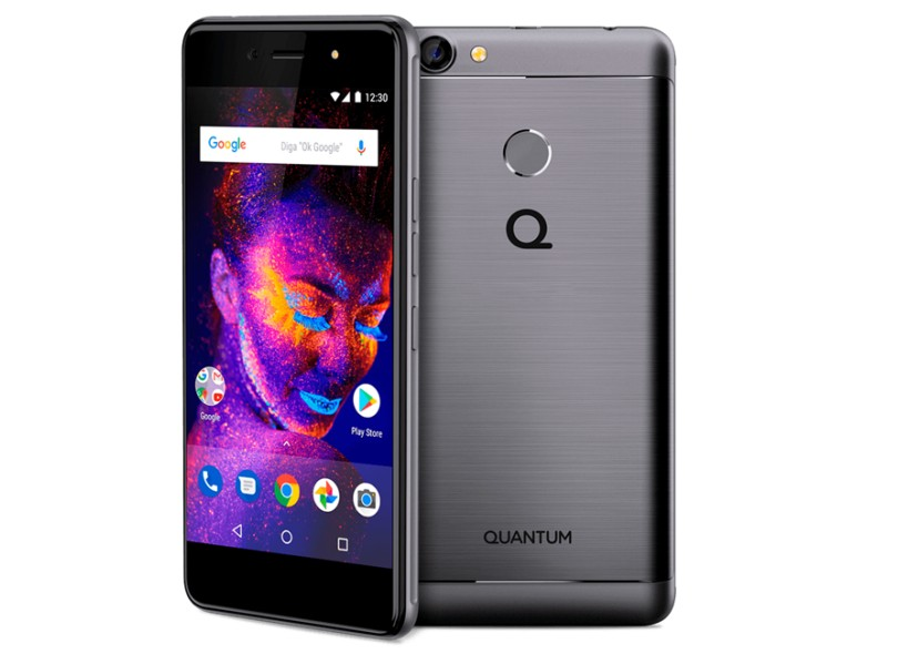 Smartphone Quantum You E 32GB 13 MP 2 Chips Android 7.0 (Nougat) 4G 3G Wi-Fi